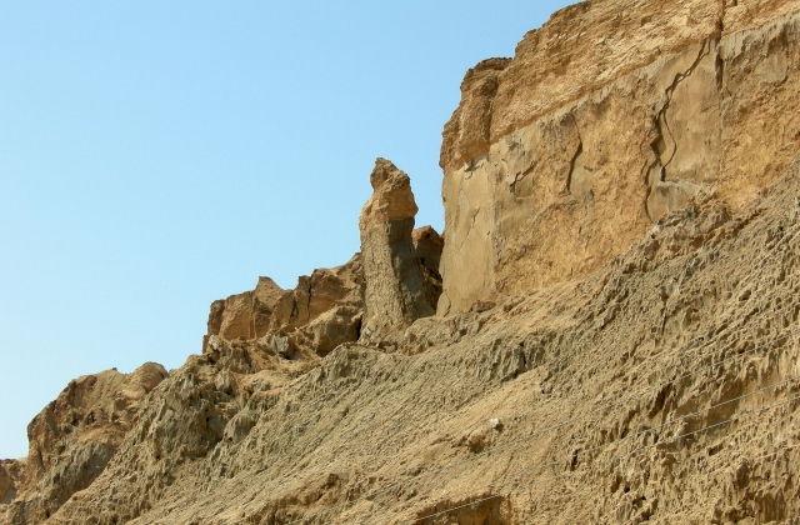 """Formacja geologiczna nad Morzem Martwym, zwana """"Żoną Lota"""""""