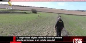 El sospechoso objeto caído del cielo en Murcia podría pertenecer a un cohete espacial