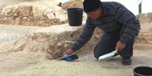 נתיבי ישראל - גילוי פסיפס ליד הכפר חורה