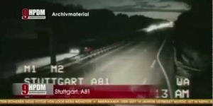 amazing UFO Attacks a TRUCK in GERMANY and flies into a TUNNEL
