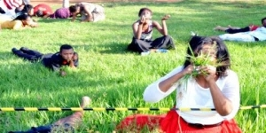 Bored Pastor Makes Congregation Eat Grass To Get Closer to God