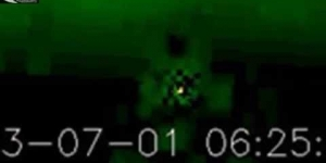 UFOs activity in the coronal hole on the Sun and the UFOs near the Sun - Review for July 1, 2013
