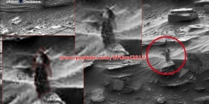 A Strange Woman Walking On Mars