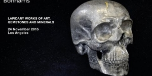 Unique Skull-Form carved from Gibeon Meteorite, highlight from Lapidary, Gems & Minerals auction